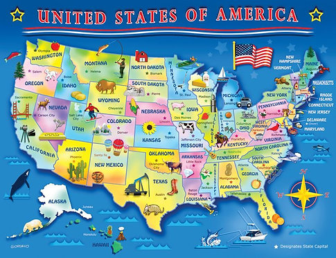 PUZZLE 60PC USA MAP