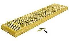 GAME CRIBBAGE BOARD 3TRK