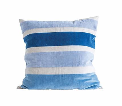 Chambray Pillow with Velvet
