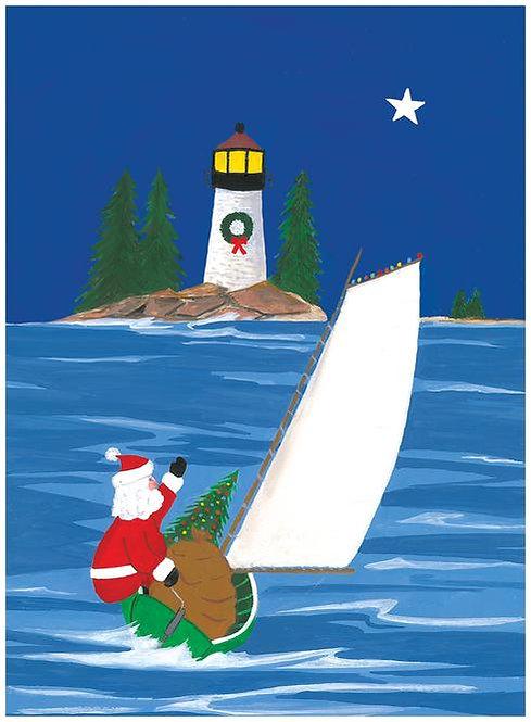 Sailboat/Lighthouse - Box (15 cards)