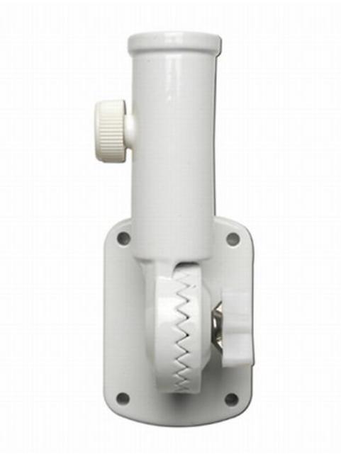 Flag Bracket - White Aluminum, Adjustable