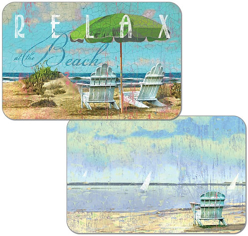 Reversible Beach-Themed Placemat