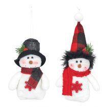 Sable Rose Snowman Ornament (EACH)