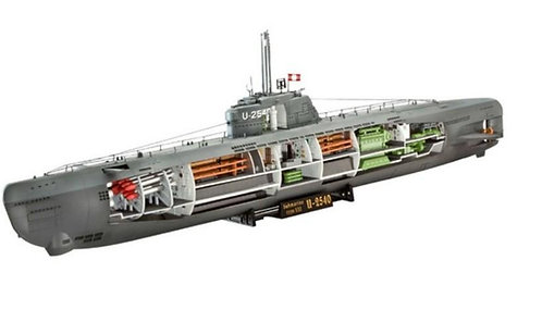 MODELS - 1/144 U-BOAT XXI W/INT