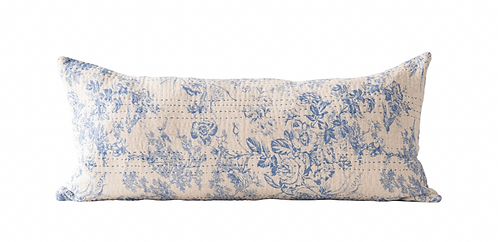 Rectangle Chambray Toille Pillow
