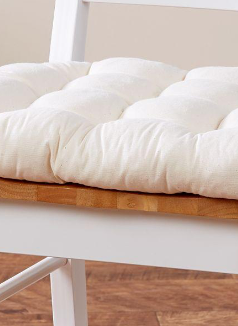 Natural Cotton Duck Chair Pad