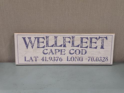 Wellfleet Lat/Long Sign