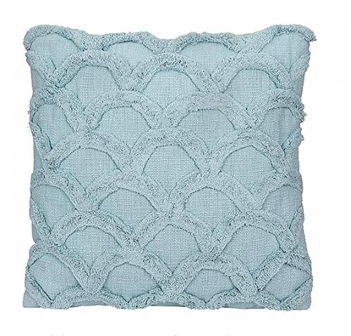 Chenille Light Blue Pillow