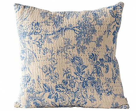 Square Chambray Toille Pillow