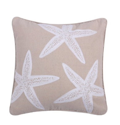 Starfish Applique Pillow