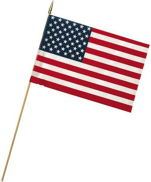 Economy 12x18 Inch U.S. Stick Flag - Veteran Approved