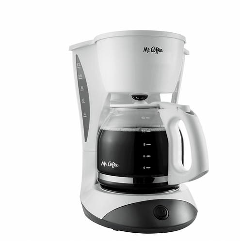 12 Cup Coffee Maker, White