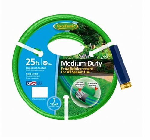 """Garden Hose 5/8""""x25' - Medium Duty"""