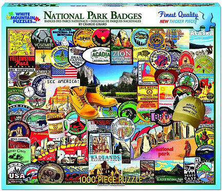 White Mountain - National Park Badges Puzzle (1000 pieces)