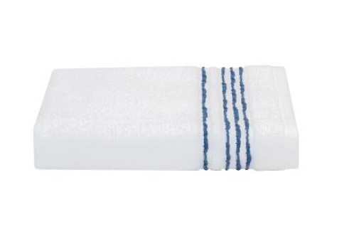 Athena Bath Towel - White/Blueberry