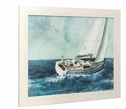 Boat Print Under Glass