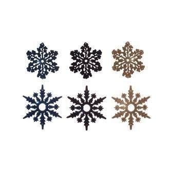 Flocked Snowflake Ornament