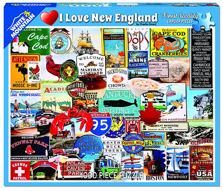 PUZZLE 1000 I LOVE NEW ENGLAND