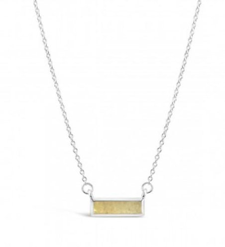 DUNE JEWELRY - Delicate Dune Turquoise Bar Necklace