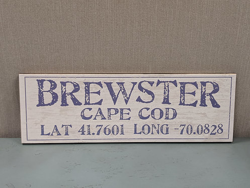 Brewster Lat/Long Sign