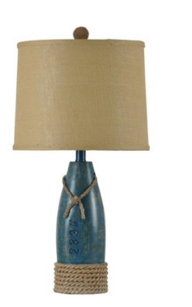 Coastal Sea Blue Lamp