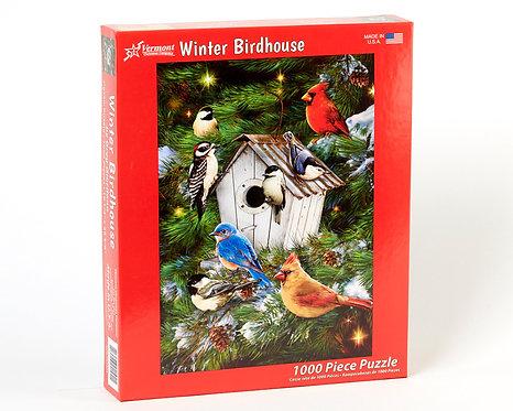1000 pc Winter Birdhouse Puzzle