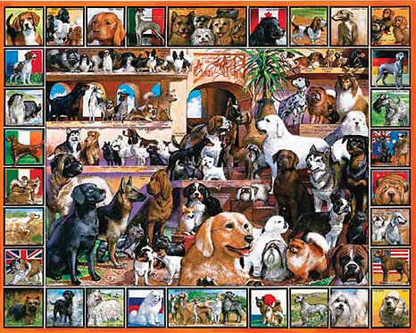 PUZZLE 1000 WORLD OF DOGS