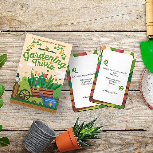 Gardening Trivia Card Game