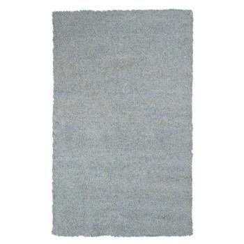 BLISS BLUE HEATHER SHAG HAND WOVEN 3.3X5.3