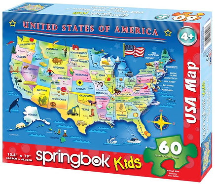 Springbok Kids - 60 piece USA Puzzle