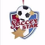 Soccer Star Ornament