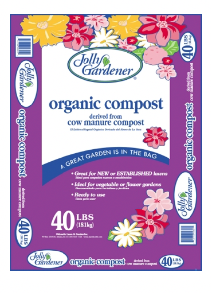 Jolly Gardener Organic Cow Manure Compost, 40 lbs