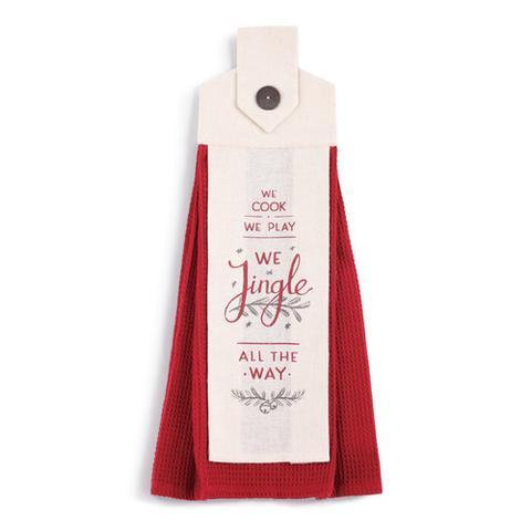 Jingle All the Way Dish Towel