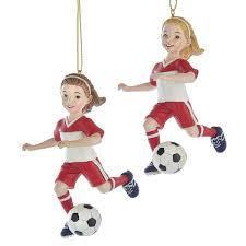 Soccer Girls Ornament