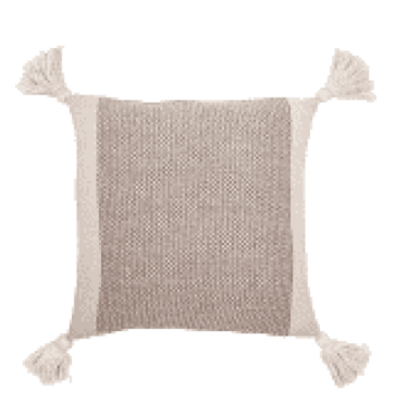 Brown Pillow with Tassels