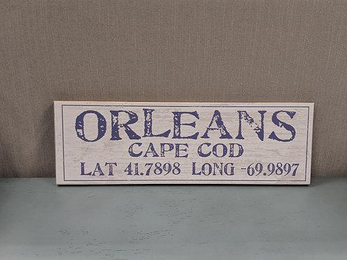 Orleans Lat/Long Sign