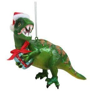 Green Dinosaur Ornament