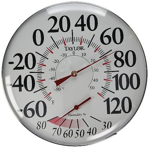 """12"""" Thermometer / Humidity Gauge"""