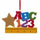 Teacher Ruler ABC Ornament