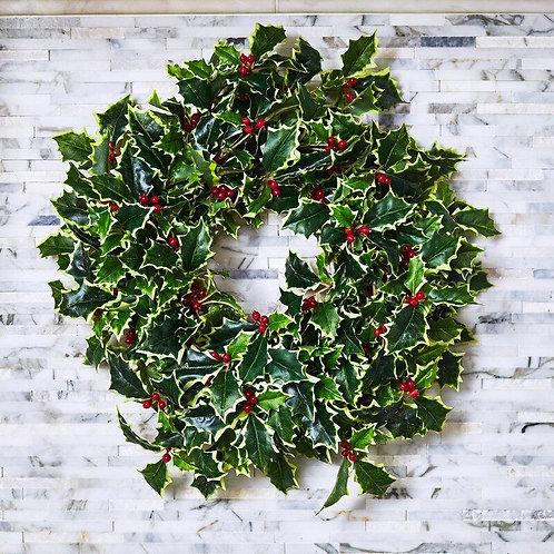 Varigated Holly Wreath