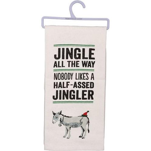 Jingle All the Way Dish Towel