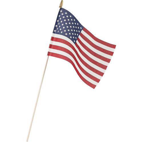 Economy 8x12 inch U.S. Stick Flag