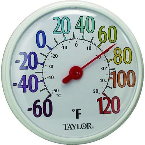 """13.5"""" Dial Outdoor Thermometer"""