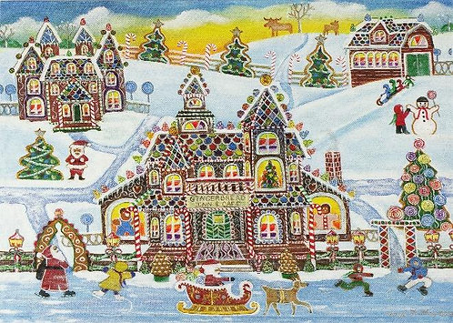 Gingerbread Village - Box ( 20 cards)