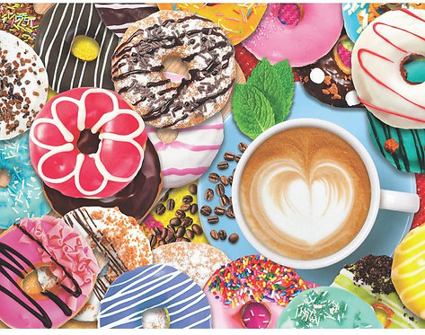 PUZZLE 500 DONUTS COFFEE