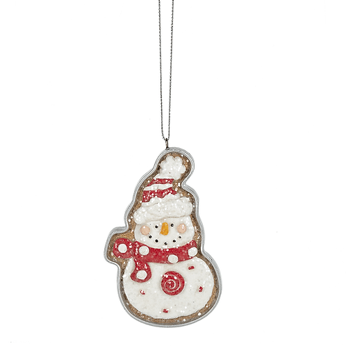 SANTA AND SNOWMAN ORNAMENT