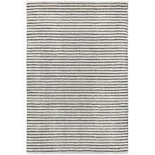 STRIPE HAND KNOTTED GREY 5X8