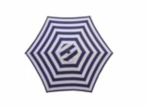 Beach Umbrella - Blue & White Stripe