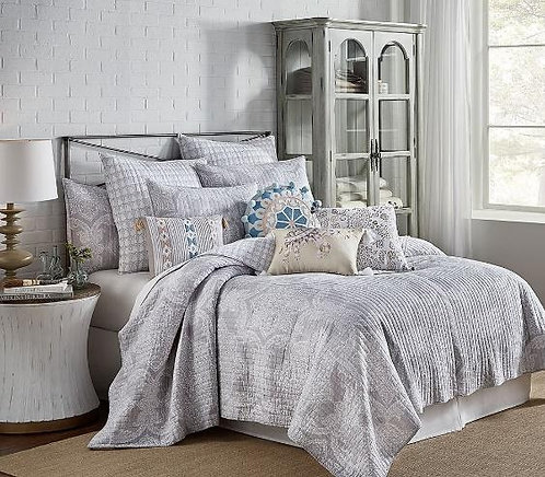 Quilt Set Ronda Grey - Full/Queen