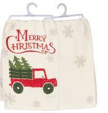 Christmas Truck Dish Towel (EACH)